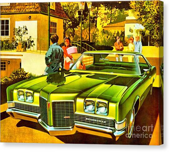1971 Pontiac Bonneville Coupe Canvas Print