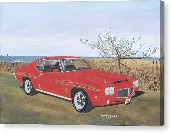 1971 Pontiac Gto Judge Canvas Print by Henry Hargrove