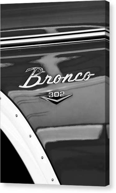 1972 Canvas Print - 1972 Ford Bronco Emblem by Jill Reger