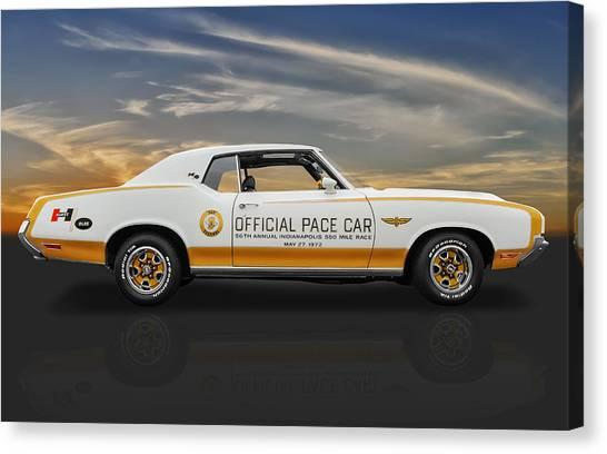 1972 Hurst Olds Pace Car Canvas Print