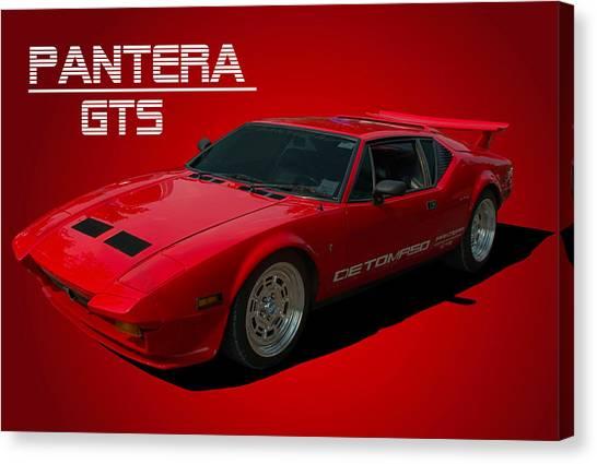 1973 Detomaso Pantera Gts Canvas Print