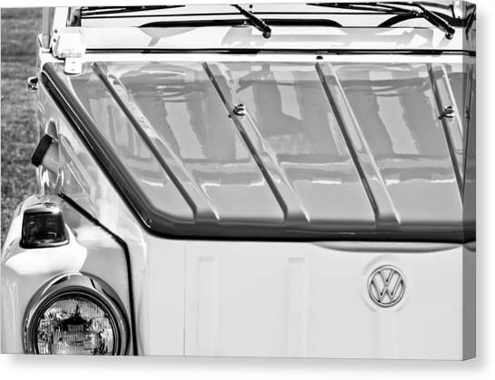 Acapulco Canvas Print - 1974 Volkswagen Thing Acapulco Beach Car -3409bw by Jill Reger