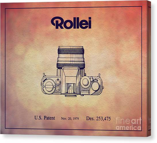 Vintage Canvas Print - 1979 Rollei Camera Patent Art 2 by Nishanth Gopinathan