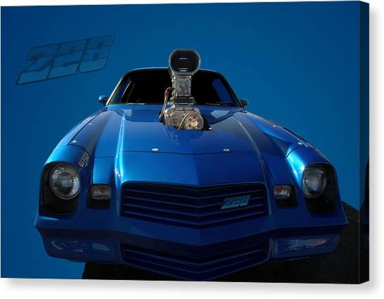 Stock Cars Canvas Print - 1980 Chevrolet Camaro Z28 Pro Street Dragster by Tim McCullough