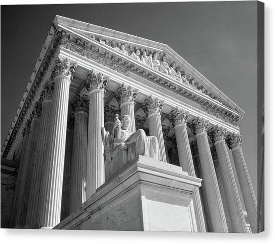 Neoclassical Art Canvas Print - 1980s Federal Supreme Court Building by Vintage Images