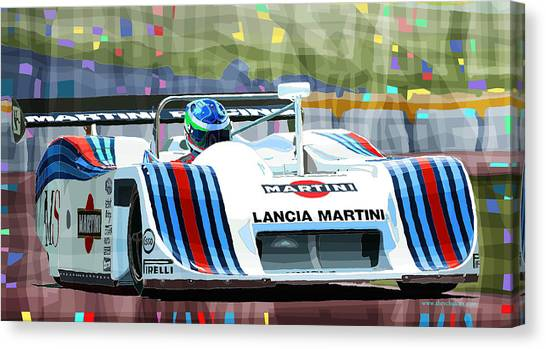 Mixed-media Canvas Print - 1982 Lancia Lc1 Martini by Yuriy Shevchuk
