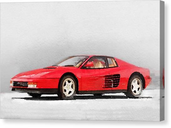 Ferrari Canvas Print - 1983 Ferrari 512 Testarossa by Naxart Studio