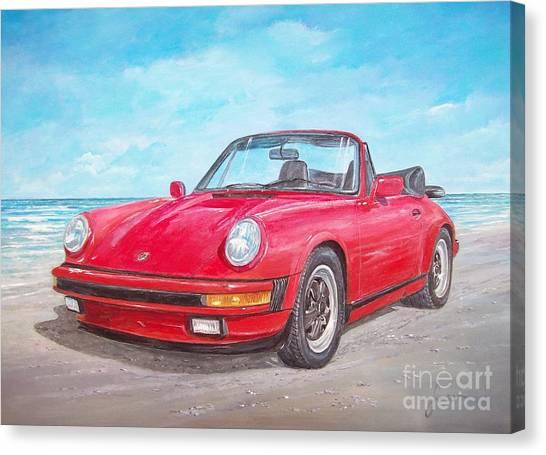 1987 Porsche Carrera Cabriolet Canvas Print