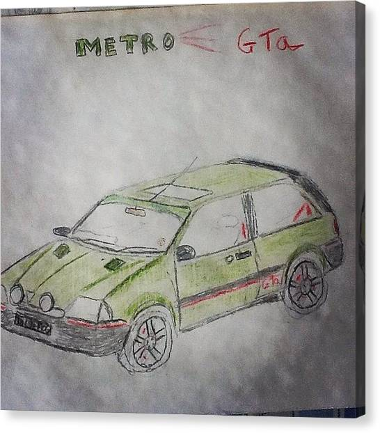 Gears Canvas Print - 1994 Rover Metro Gta Se by Tom Causer