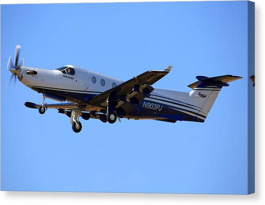 1999 Pilatus Pc-12-45 On Climb-out N903pj Canvas Print