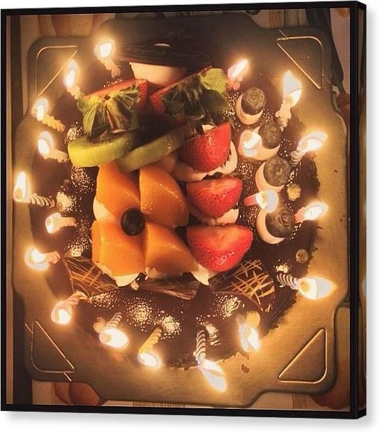 Happy Birthday Canvas Print - Happy Birthday by Joana San Jose