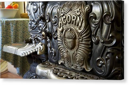 19th Century Acorn Cast Iron Stove White Pine Village Ludington Michigan Canvas Print