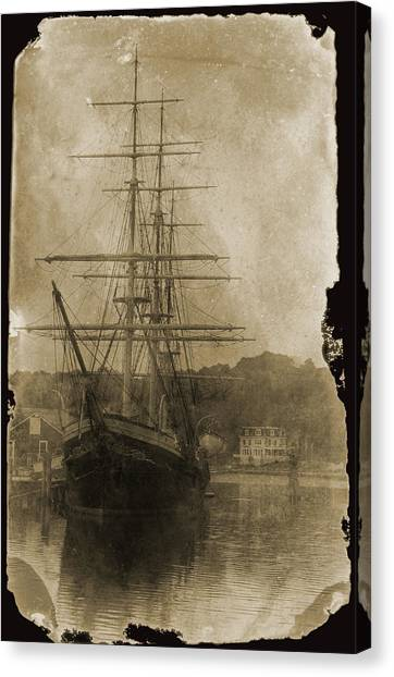 19th Century Schooner Canvas Print