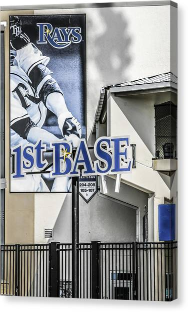 1st Base Canvas Print