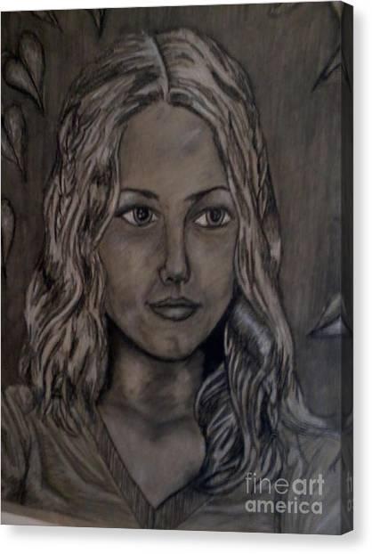 1st Self Portrait Canvas Print