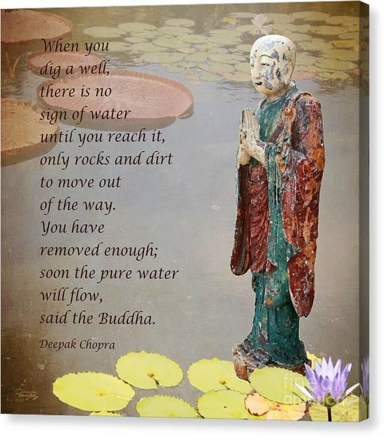 ... Said The Buddha Canvas Print