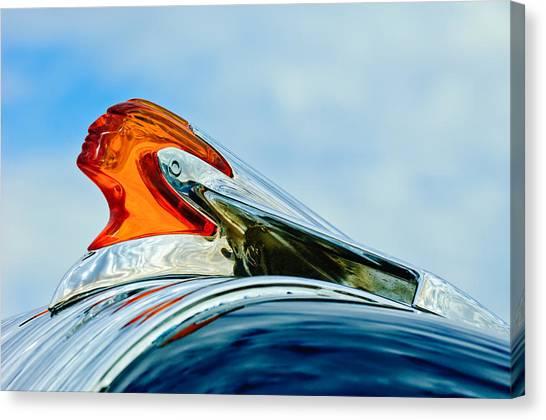 Mascot Canvas Print - 1950 Pontiac Hood Ornament by Jill Reger