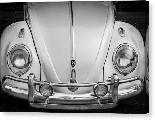 1960 Volkswagen Beetle Vw Bug   Bw Canvas Print