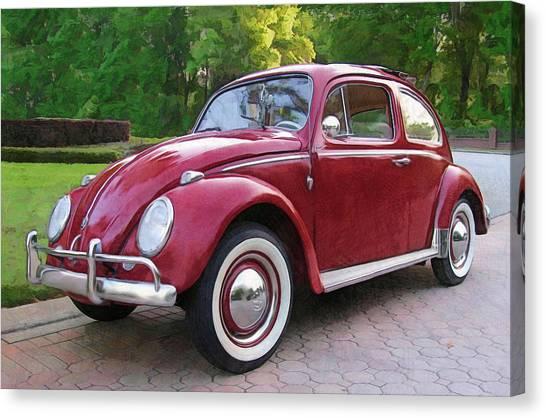 1960 Vw  Bug Canvas Print