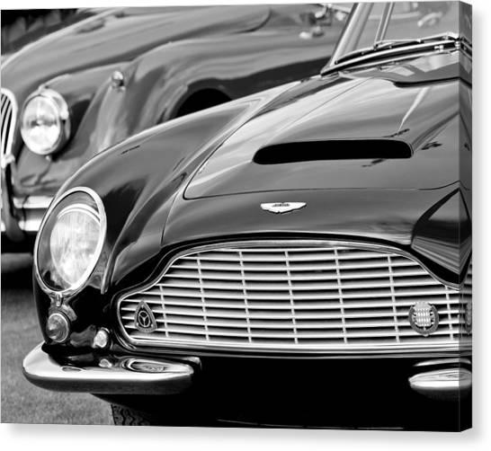 Martin Canvas Print - 1965 Aston Martin Db6 Short Chassis Volante by Jill Reger