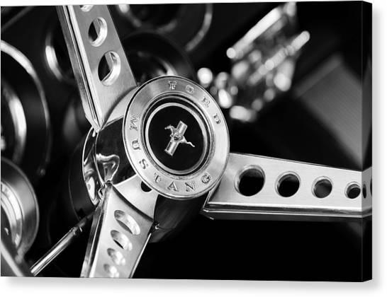1969 Ford Mustang Mach 1 Steering Wheel Canvas Print
