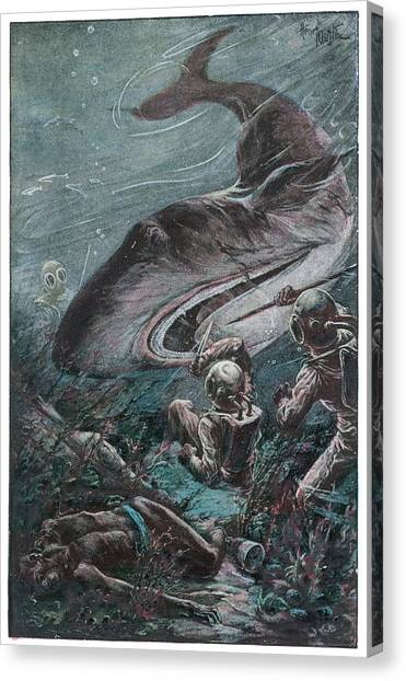 '20,000 Lieues Sous Les Mers' [20 000 Canvas Print by Mary Evans Picture Library