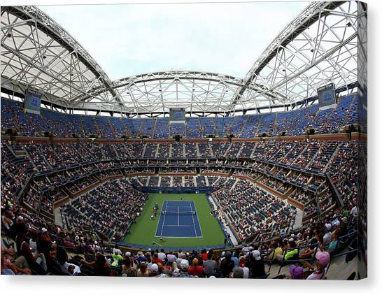 Tennis Pros Canvas Print - 2015 U.s. Open - Day 1 by Clive Brunskill