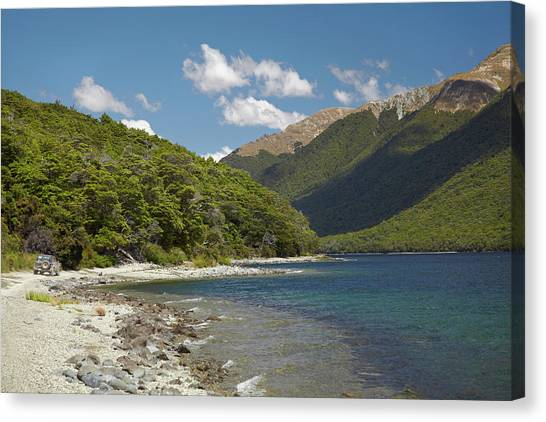 4x4 Canvas Print - 4wd On Track Around North Mavora Lake by David Wall