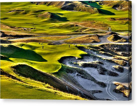 #9 At Chambers Bay Golf Course Canvas Print