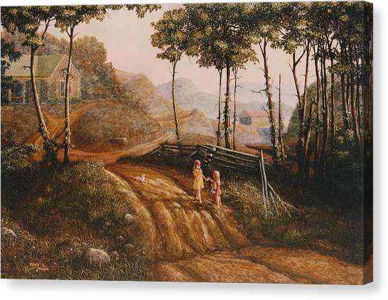 A Country Lane Canvas Print