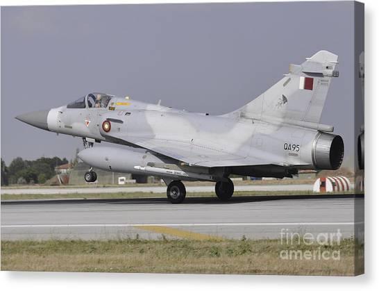 Emir Canvas Print - A Mirage 2000-5eda Of The Qatar Emiri by Giorgio Ciarini