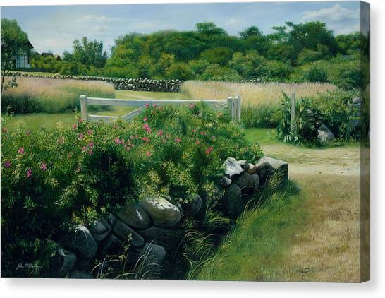Marthas Vineyard Canvas Print - A Place Of Peace Martha's Vineyard by Julia O'Malley-Keyes