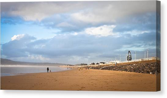 Jogger Canvas Print - Aberafan Beach by Tom Gowanlock