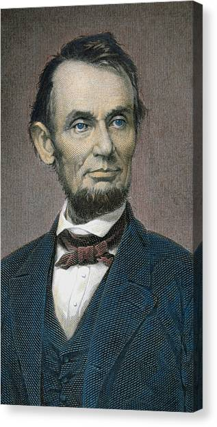 Republican Politicians Canvas Print - Abraham Lincoln by American School