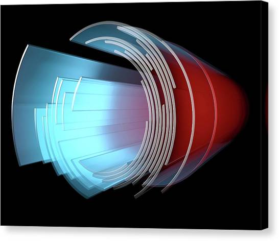 3d Visualization Canvas Print - Abstract Circular Display Element by Alfred Pasieka/science Photo Library