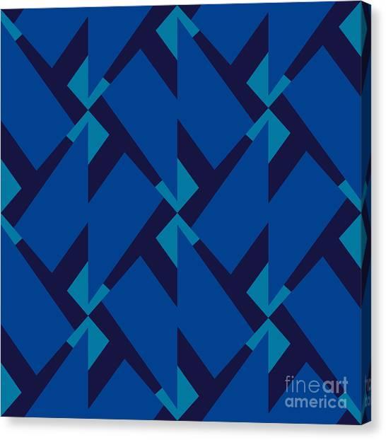 Figure Canvas Print - Abstract Retro Pattern. Vector by Artsandra