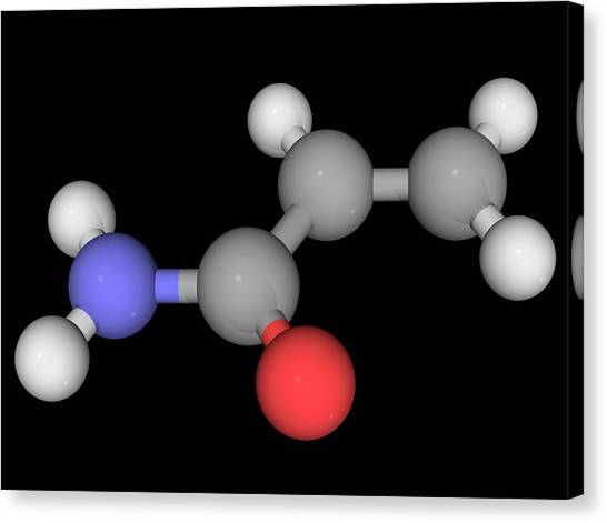 Acrylamide Molecule Canvas Print by Laguna Design/science Photo Library