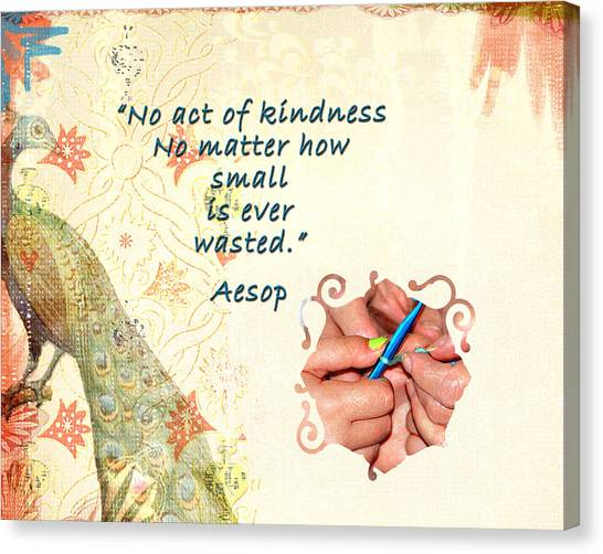 Act Of Kindness Canvas Print