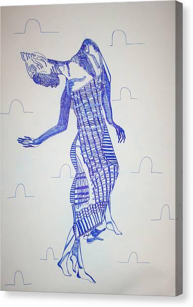 Gloria Canvas Print - Adowa Dance - Ghana by Gloria Ssali