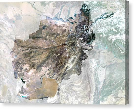 Hindu Kush Canvas Print - Afghanistan by Planetobserver/science Photo Library