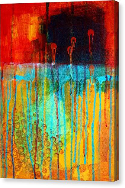 Big Red Canvas Print - After Midnight by Nancy Merkle