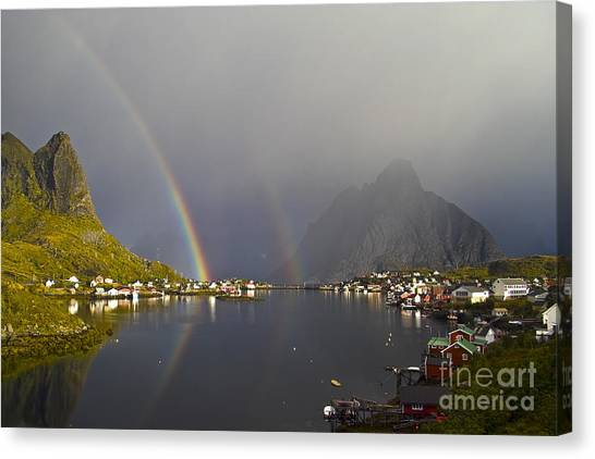 After The Rain In Reine Canvas Print