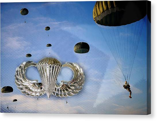 Paratroopers Canvas Print - Airborne by JC Findley