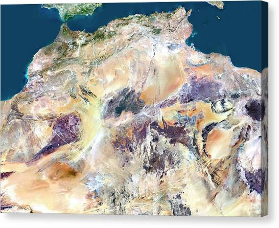 Sahara Desert Canvas Print - Algeria by Planetobserver/science Photo Library