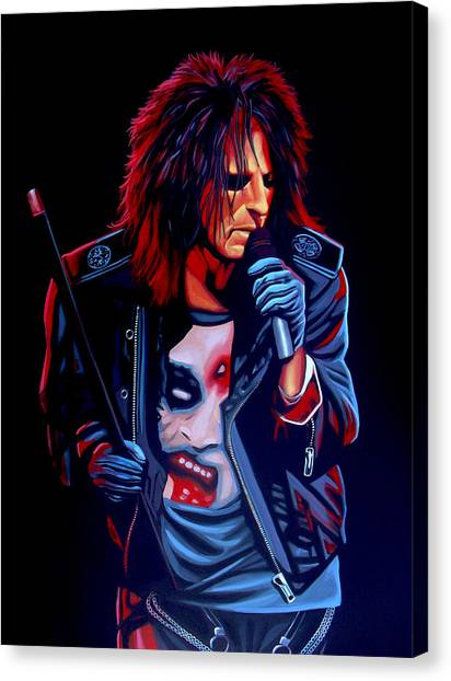 Punk Canvas Print - Alice Cooper  by Paul Meijering