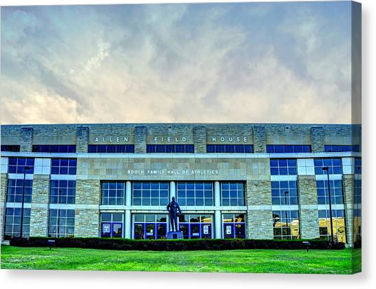 University Of Kansas Canvas Print - Allen Fieldhouse by Jean Hutchison