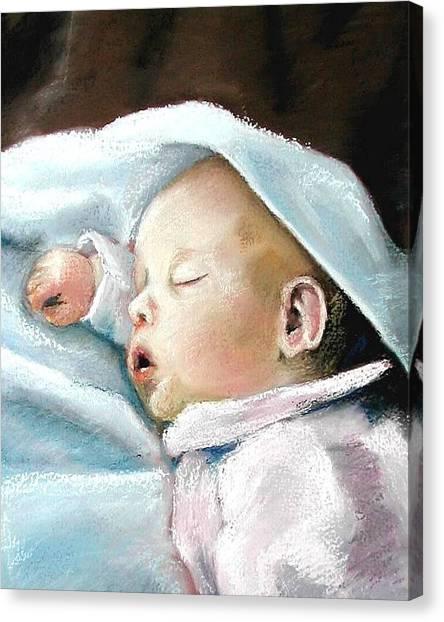 Angel Sleeping Canvas Print by Lenore Gaudet