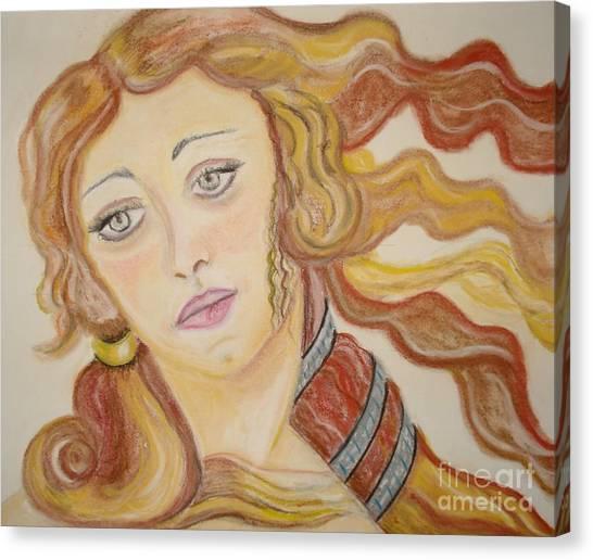 Aphrodite Goddess Of Love Canvas Print