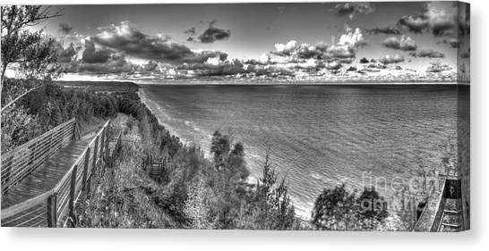Northern Michigan Canvas Print - Arcadia Overlook In Black And White by Twenty Two North Photography