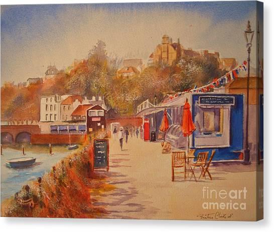 Around Folkestone Harbour Canvas Print